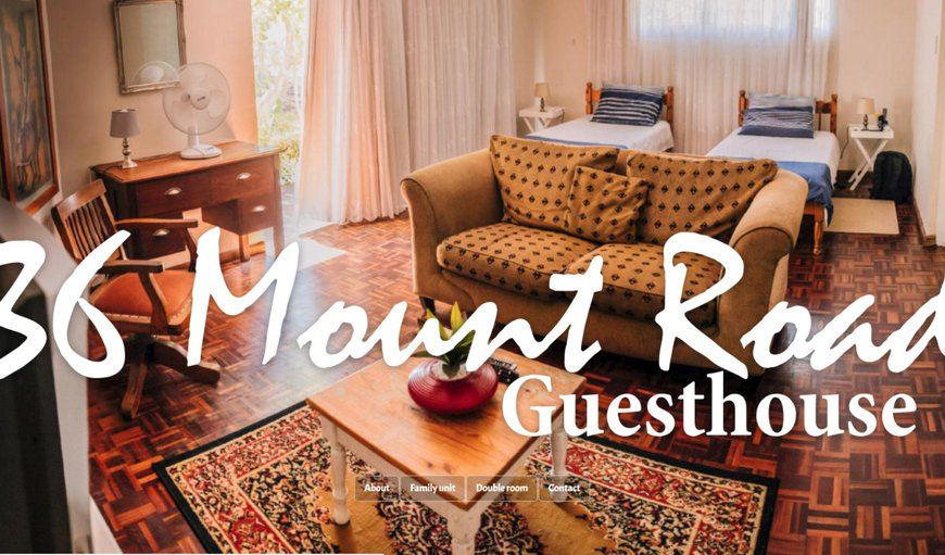 Welcome to 36 Mount Road Guesthouse. in Mount Croix, Port Elizabeth, Eastern Cape, South Africa