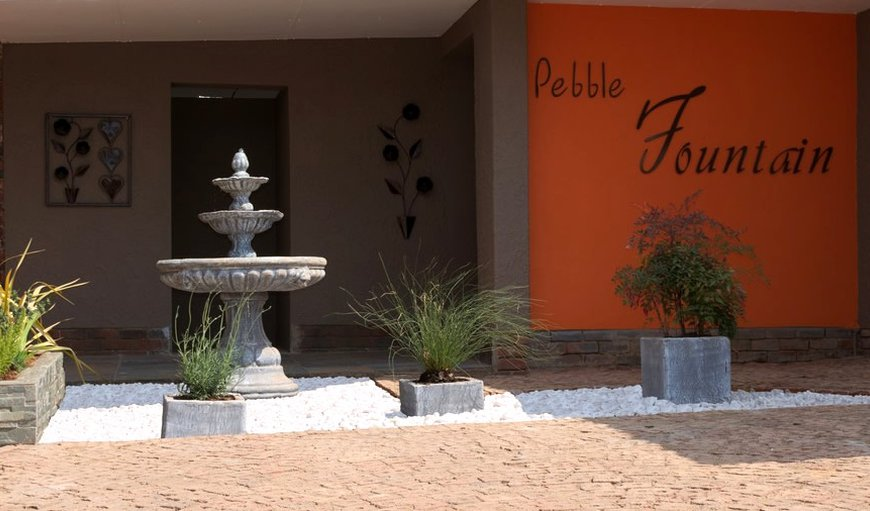 Pebble Fountain in Fichardtpark, Bloemfontein, Free State Province, South Africa