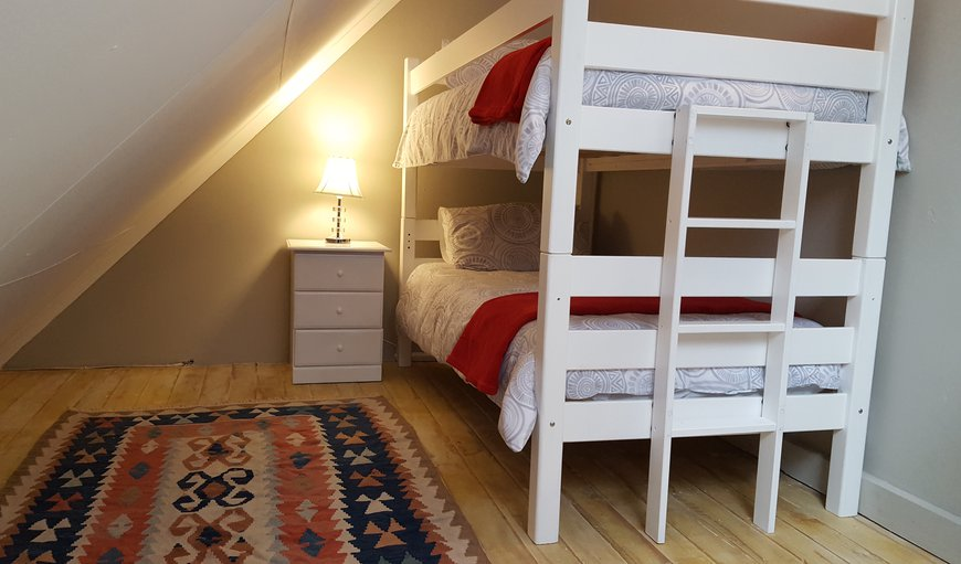 The bunk bed in the loft, perfect for kids