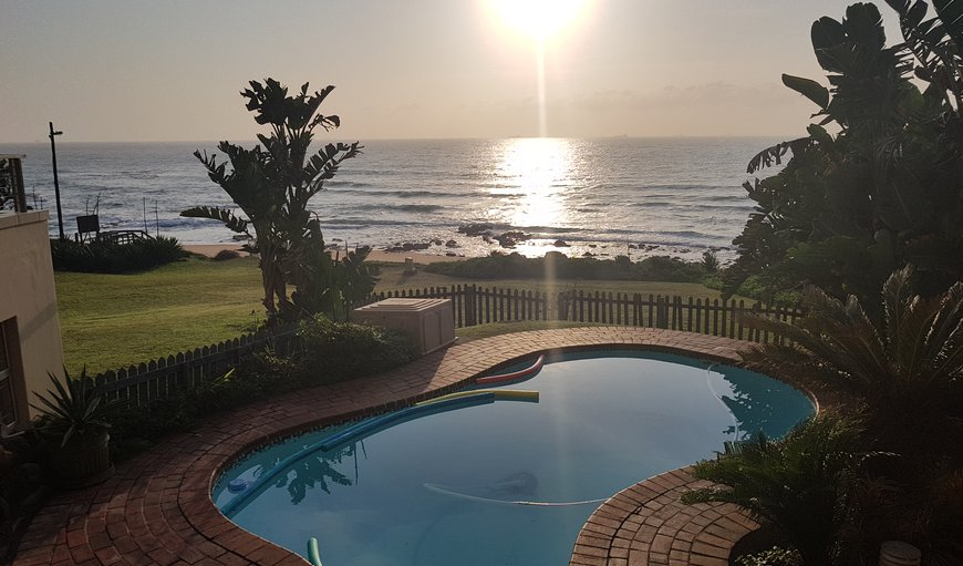 VIEW FROM SWIMMING POOL in Umdloti Beach, Durban, KwaZulu-Natal, South Africa