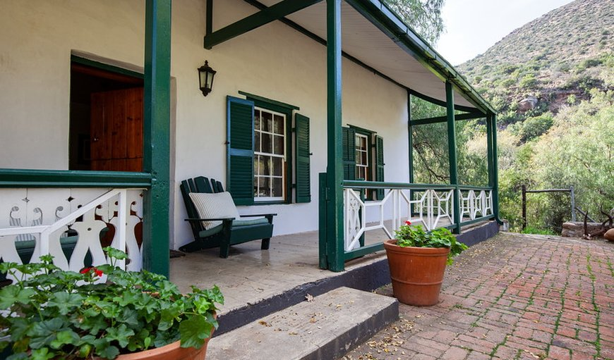 Exterior of 1830 Cottage in Graaff Reinet , Eastern Cape, South Africa