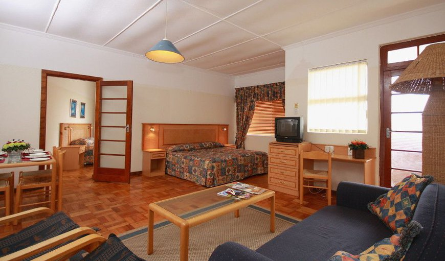 The rooms are spacious and has a lounging area