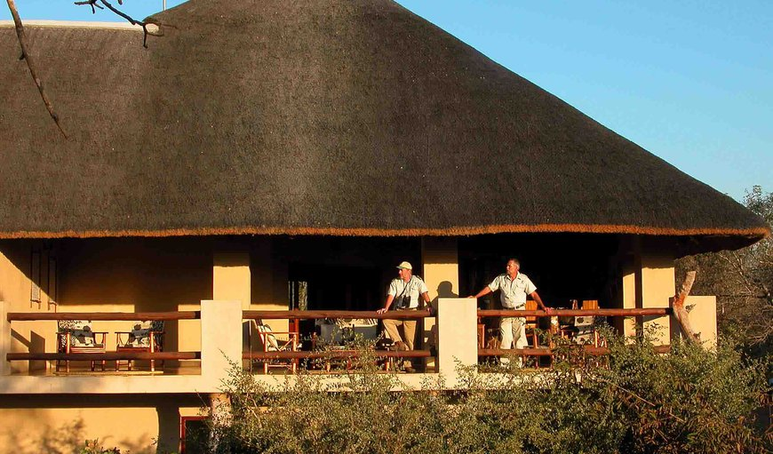 Our guests spend most of their time on our big open balcony to watch the animals of the Kruger Park coming down for a drink in the river