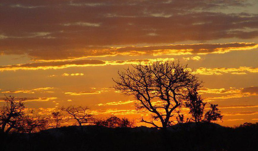 Another magnificent sunset in the African bush - view from the open balcony