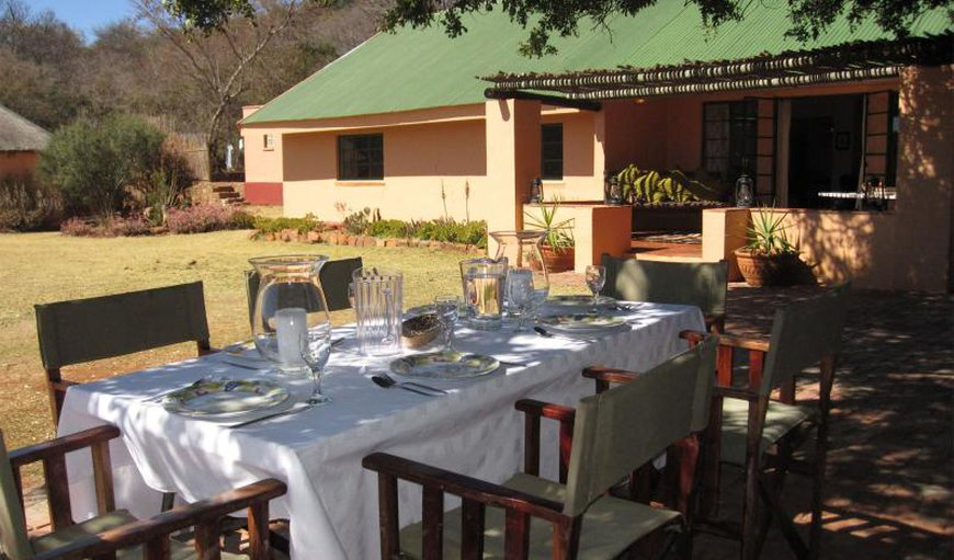 Outside dinning area in Vaalwater, Limpopo, South Africa