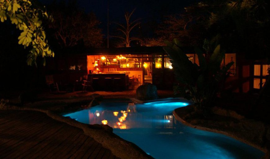Wildebees Ecolodge with a lagoon swimming pool.