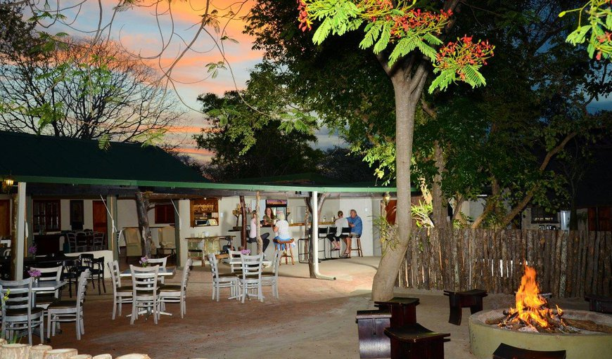The boma area and bush bar in Hoedspruit, Limpopo, South Africa