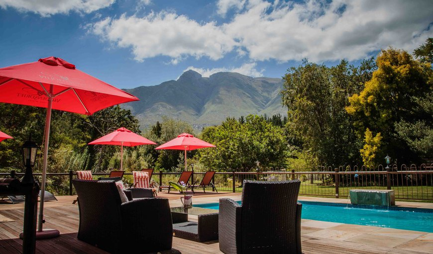 BBQ  - Deck & Swimming pool area in Swellendam, Western Cape , South Africa