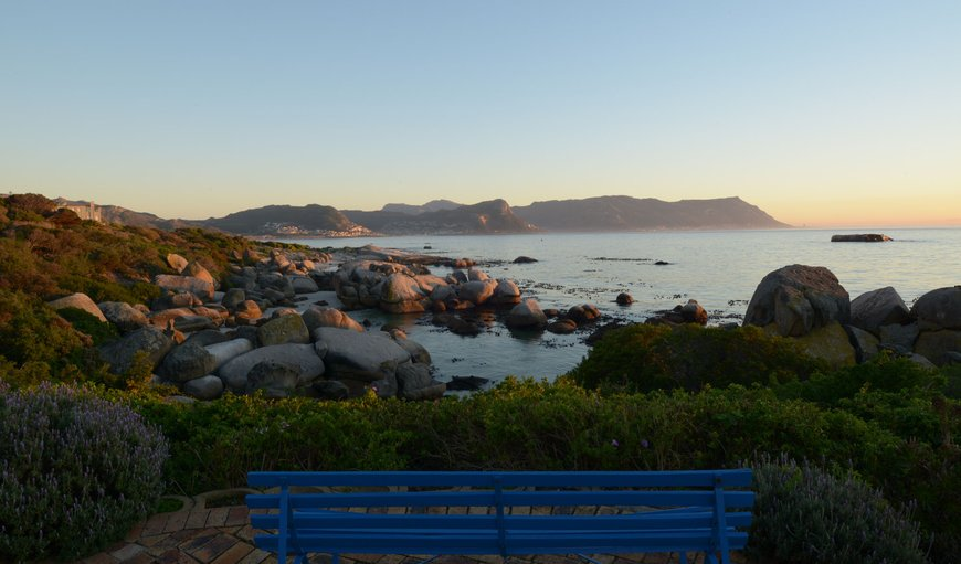Early morning view from Bosky Dell looking out over Boulders Beach and False Bay