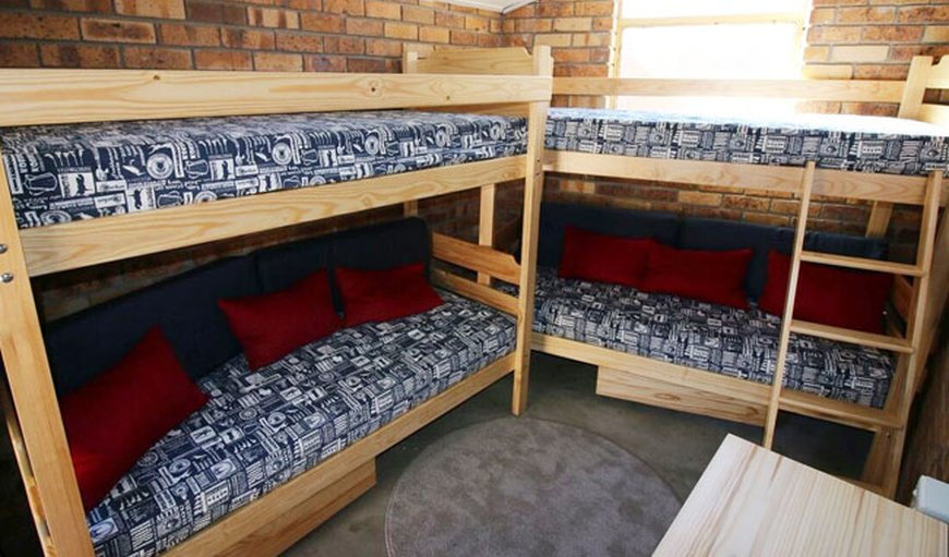 Dormitory with bunk beds.