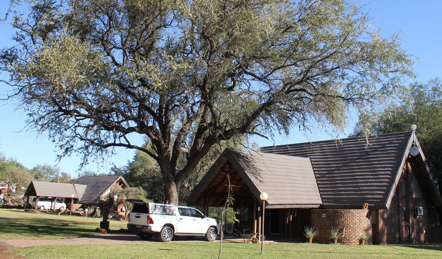 Entrance and parking in Hoedspruit, Limpopo, South Africa