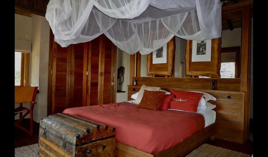 Chalets with a king size bed.