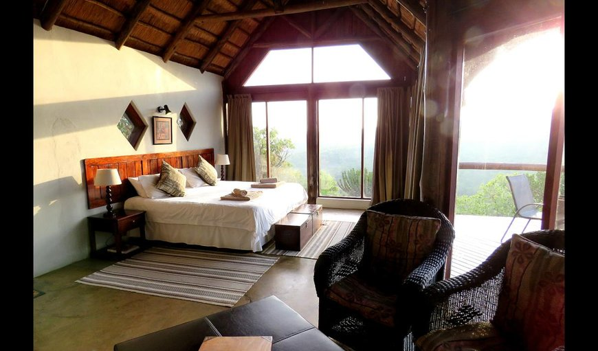 Safari with a king size bed, open fire place and private deck with portable braai.