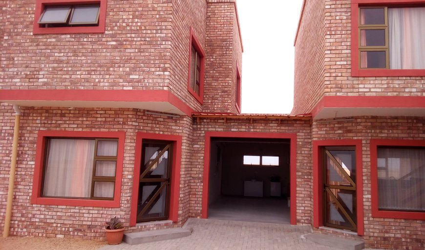Main entrance of Flat 3 to the left in Henties Bay, Erongo, Namibia