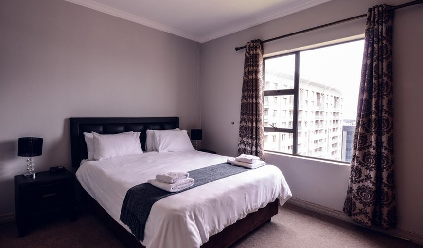 The rooms has double beds