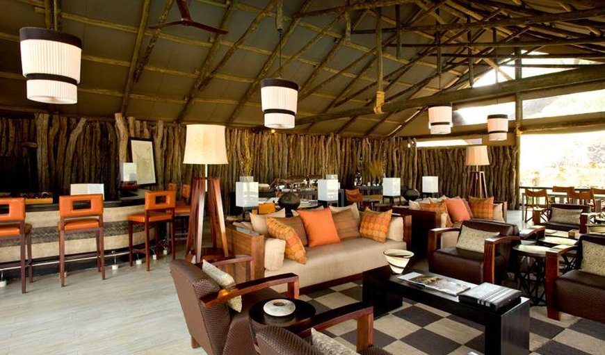 Savute Elephant Lodge lounge area.