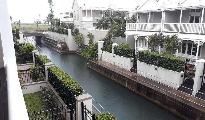 View of canal from main bedroom balcony