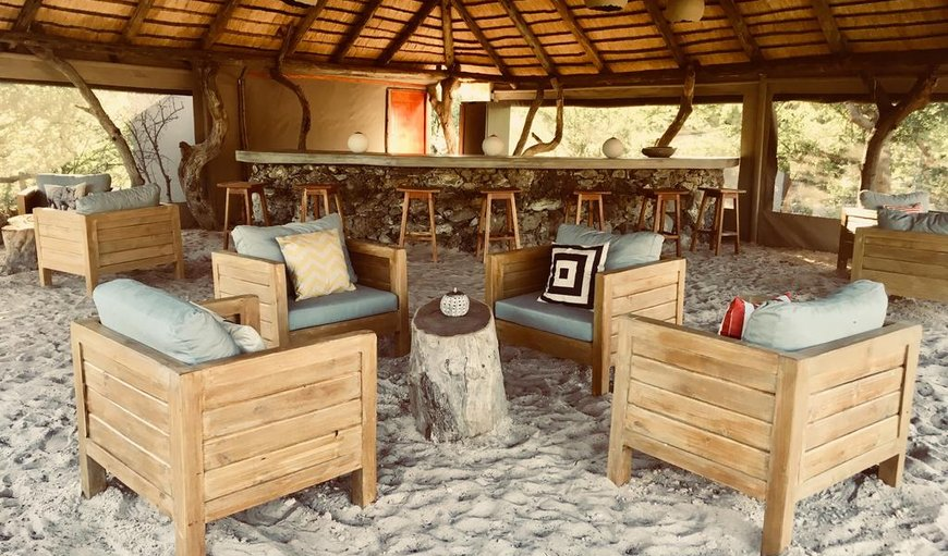 Bar area in Maun, North West District, Botswana