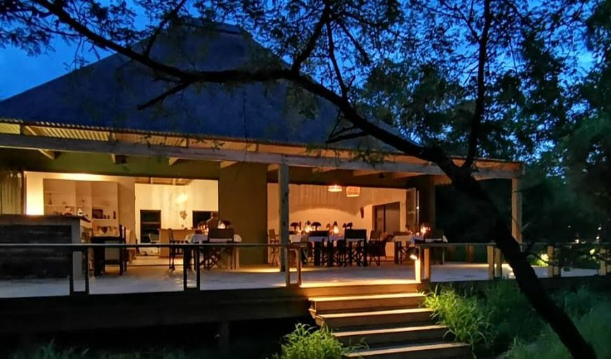 Outside Main Lodge Building at night in Hoedspruit, Limpopo, South Africa