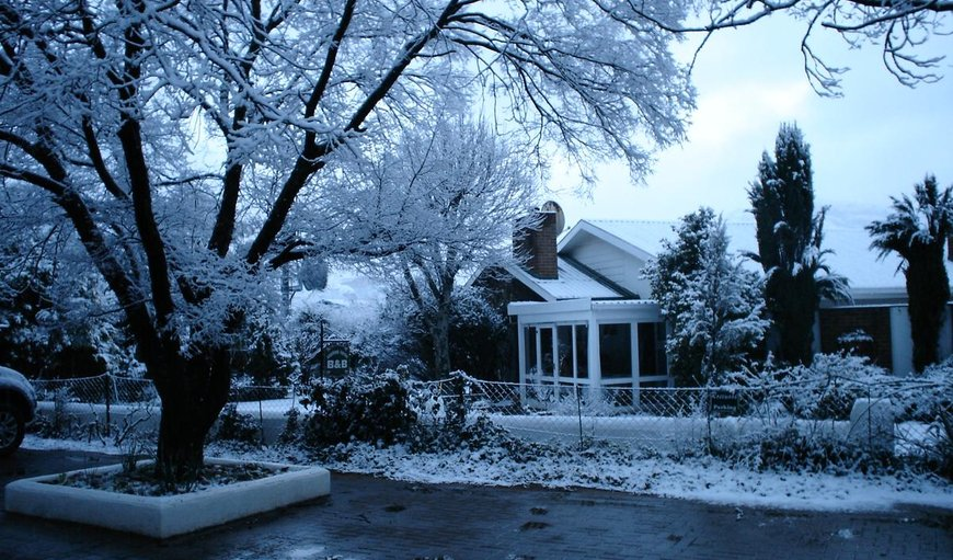 Rosewood Corner covered in Snow in Clarens, Free State Province, South Africa