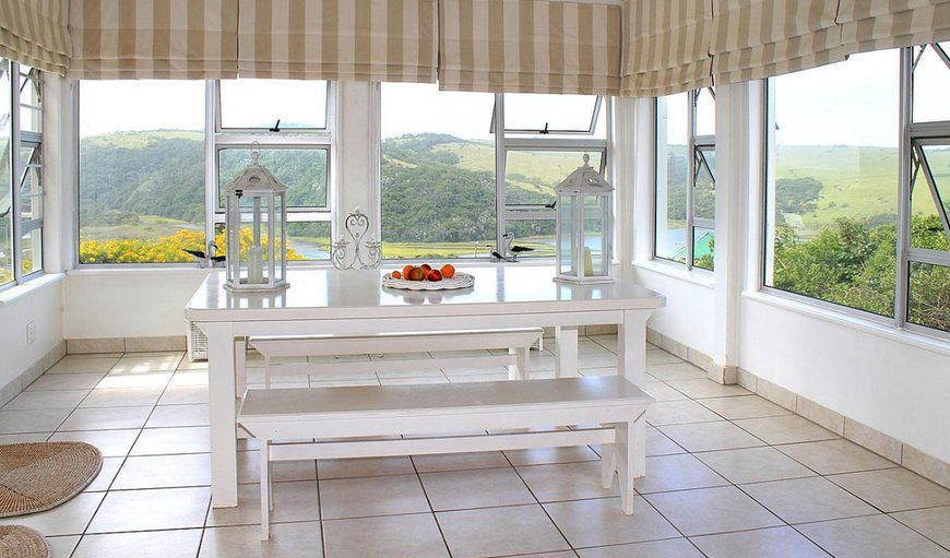 Dining area with view of lagoon. in Morgans Bay, Eastern Cape, South Africa