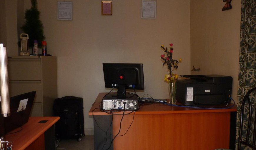 Amani Hostel reception area.