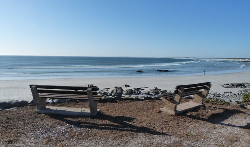 The beautiful Yzerfontein beach. in Yzerfontein, Western Cape , South Africa