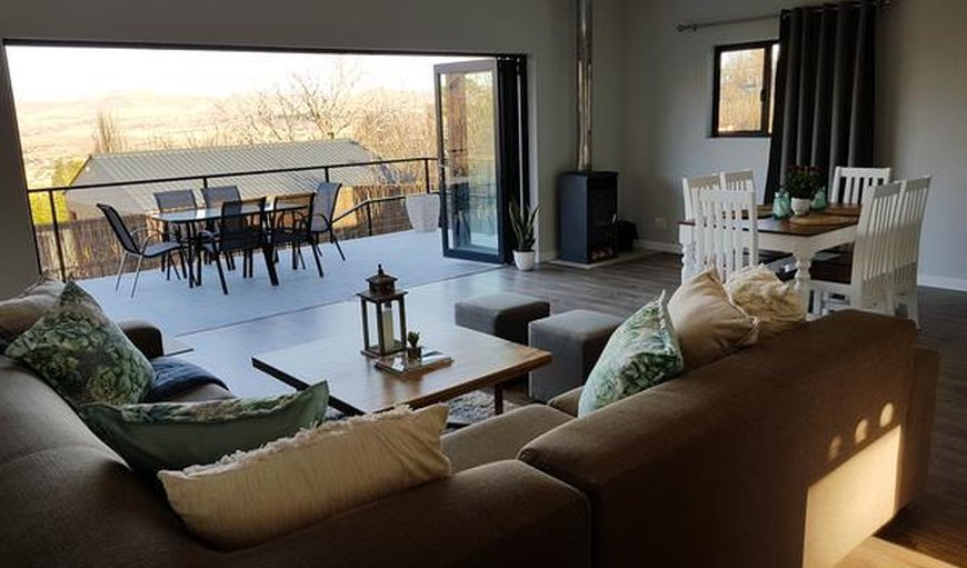 Clarens Escape Holiday Home lounge and deck