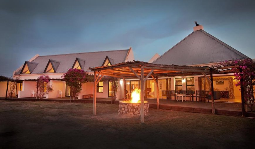Outside area with a bonfire.