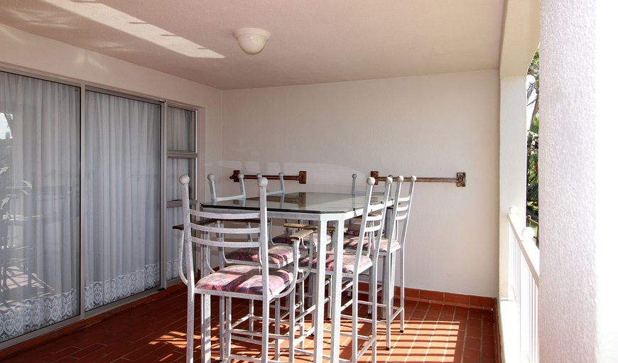 Dining table on balcony