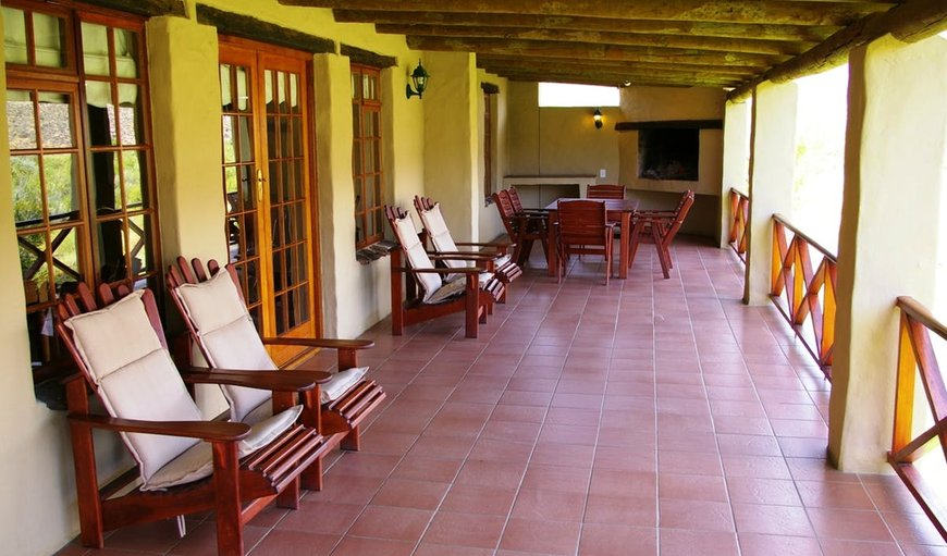 Patio with seating in Breede River DC, Western Cape, South Africa