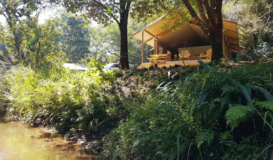Our luxury boutique glamping tents are all facing the river just a few meters from the streaming water and are surrounded by lush green grass and indigenous forest.
