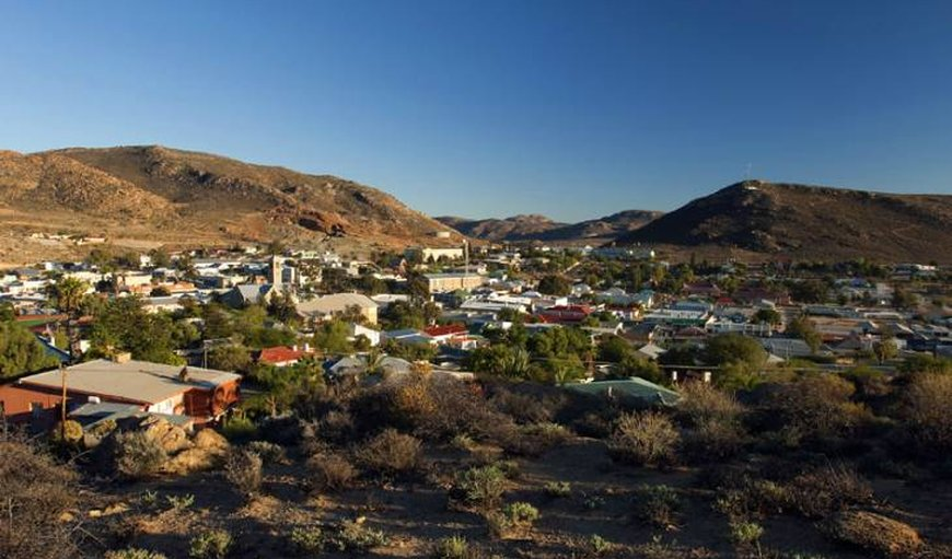 Aerial view of Garies. in Garies, Northern Cape, South Africa