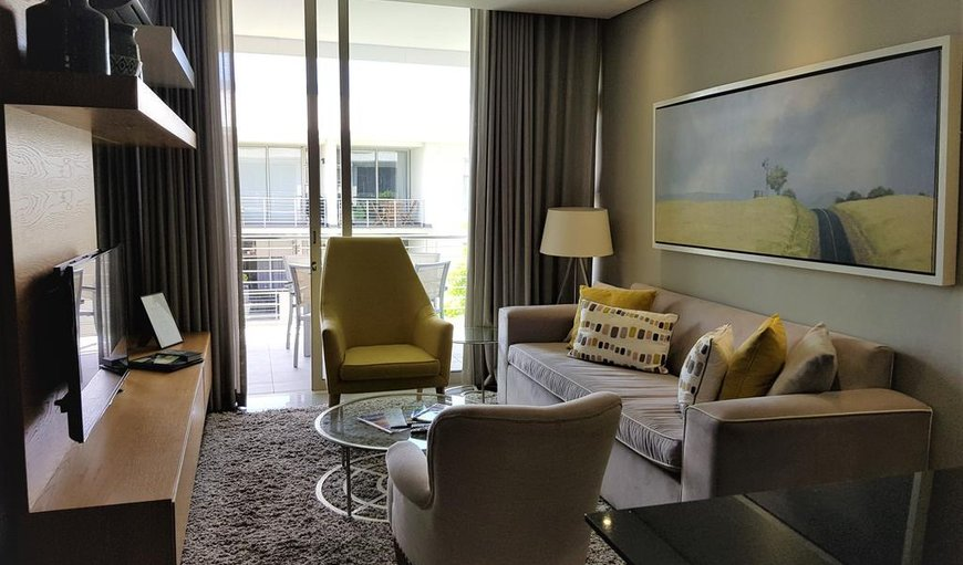 Living area with doors leading to the balcony in Stellenbosch, Western Cape , South Africa