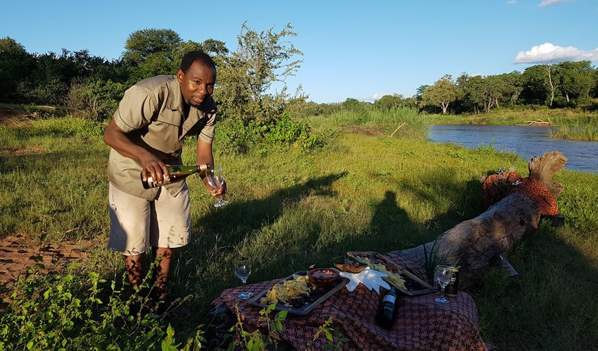Sundowners on the banks of the Mutale River