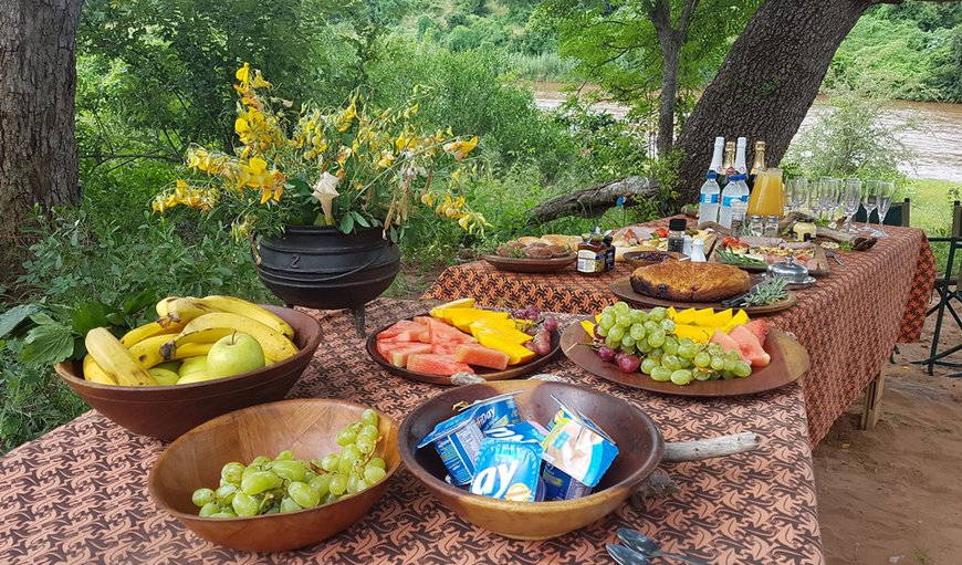 Book for our delicious Champagne Breakfast overlooking the KNP in Pafuri Gate , Limpopo, South Africa