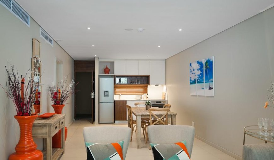Open-plan living/dining and kitchen area