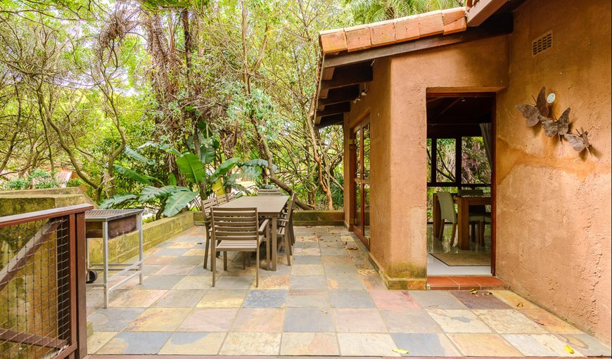 Featuring a large patio area which has an outdoor dining table and braai facilities.
