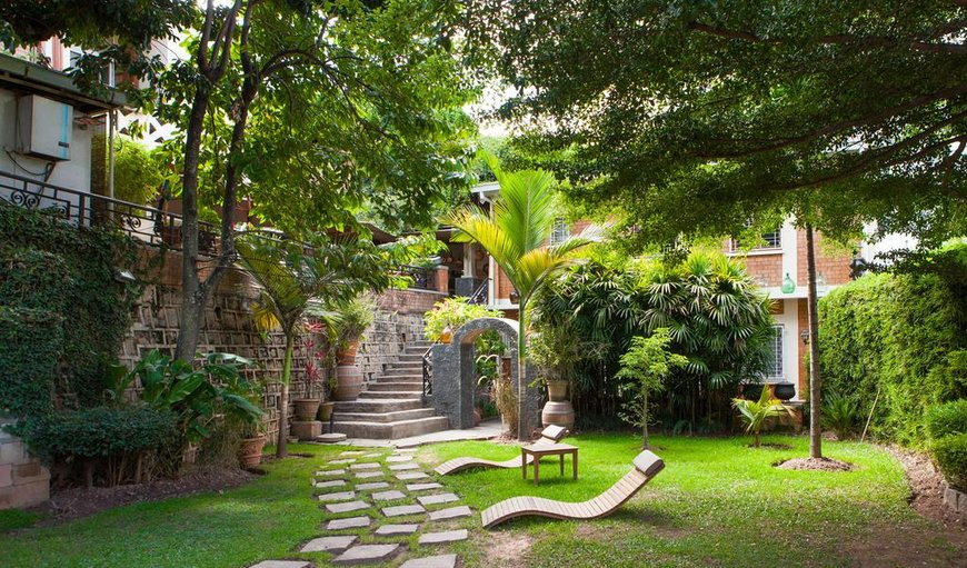 Beautiful garden where guests can relax