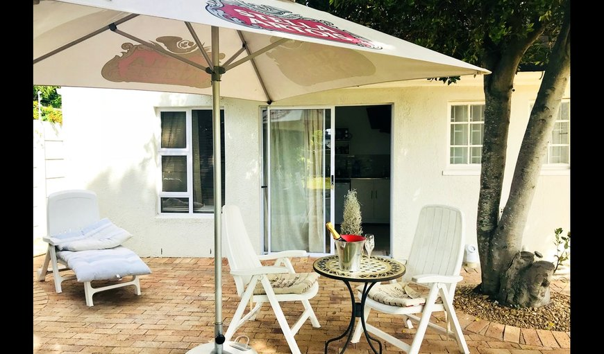 Simply B Rondebosch patio area.
