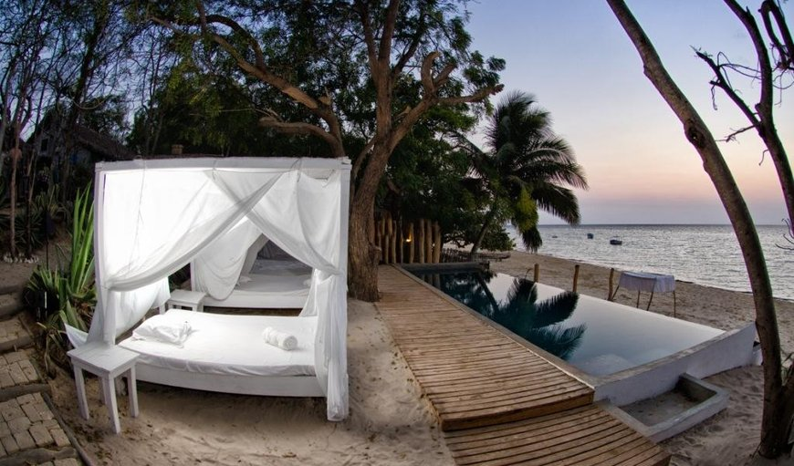 Beautiful outside lounge area at Princesse du Lagoon in Ifaty, Toliara Province, Madagascar