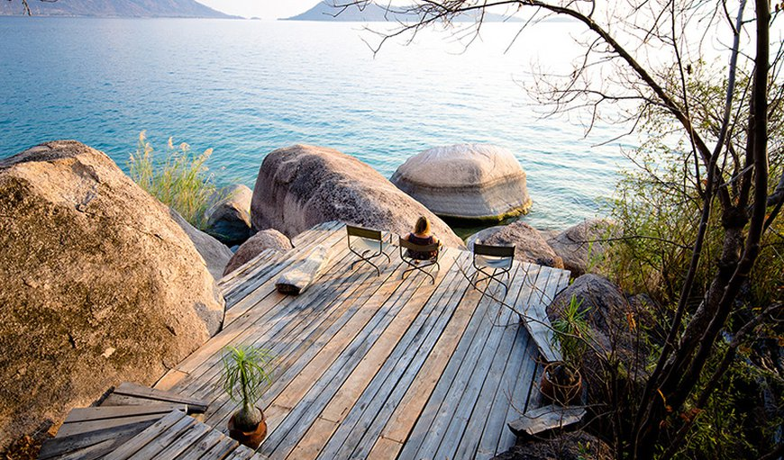 Outside deck at Domwe Island in Malawi, Malawi, Malawi