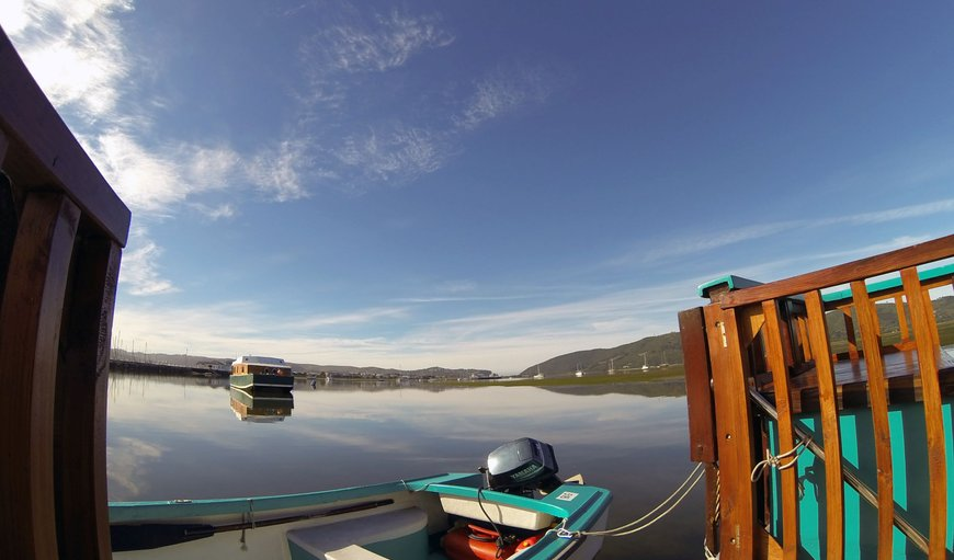 Anchored in the Knysna Lagoon, it's just a two minute dinghy ride away from the Knysna Waterfront.