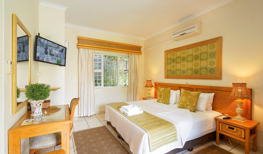 Room en-suite, king size bed or 2 single beds. Air-conditioned with tea coffee making facilities, hairdryers, small bar fridge, electronic safes, TV (dstv) ,euro-outlets for charging cellphones /computers, comes complete  with guest amenities.