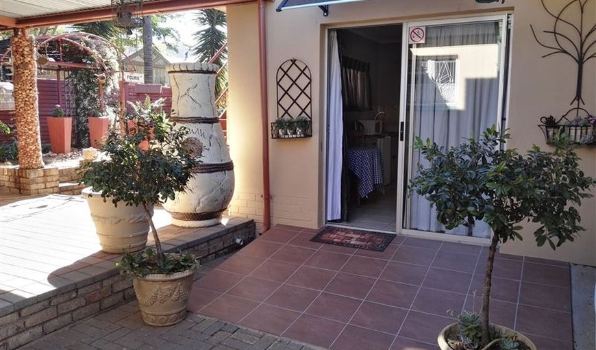 Entrance to rooms in Wonderboom, Pretoria (Tshwane), Gauteng, South Africa