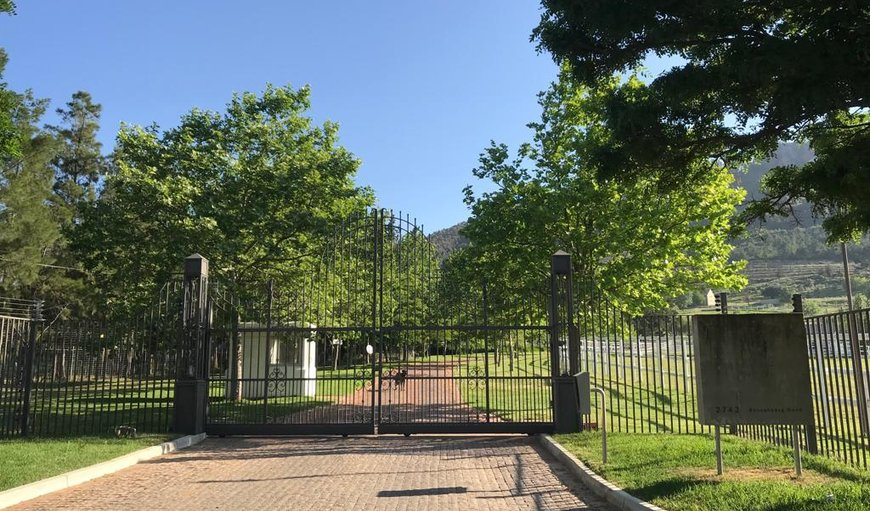 Front Gate in Franschhoek, Western Cape , South Africa