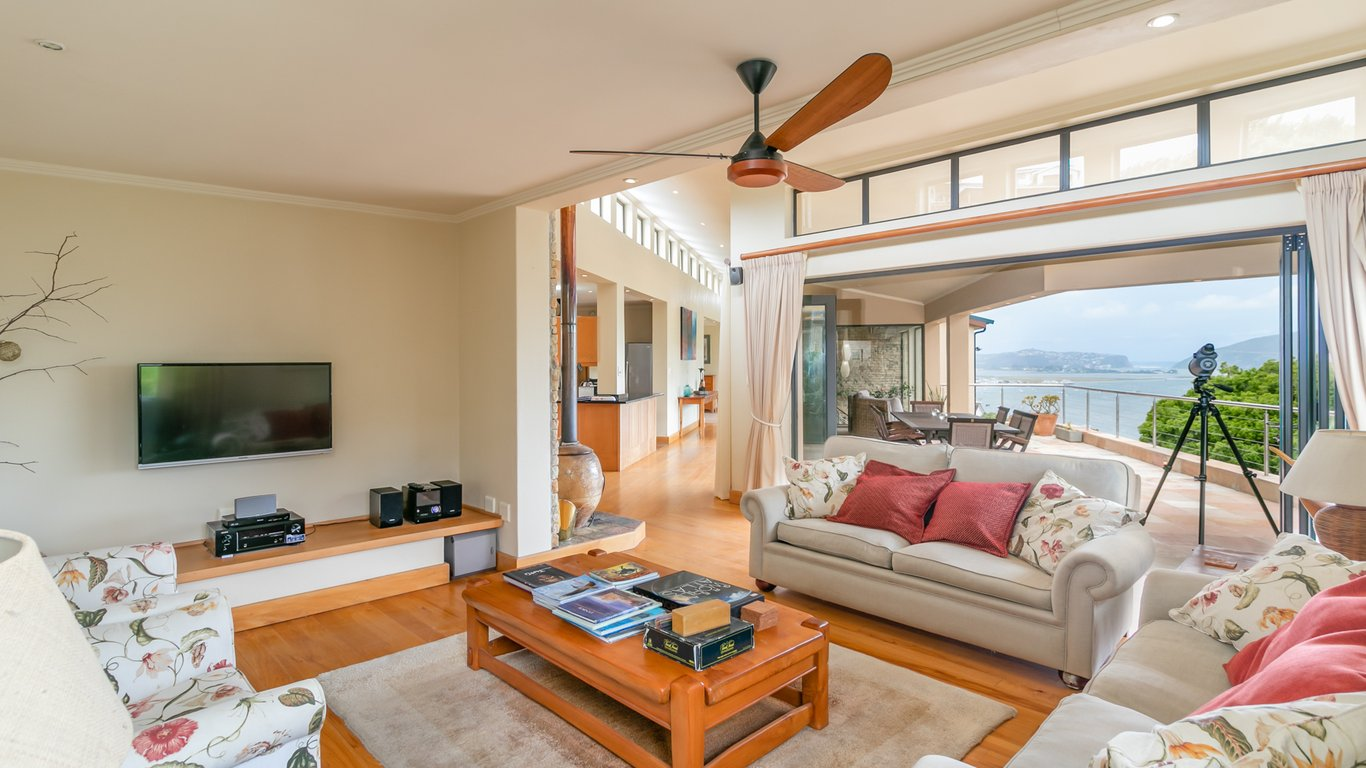 Living Room Leading To Patio In Paradise, Knysna, Western Cape , South  Africa