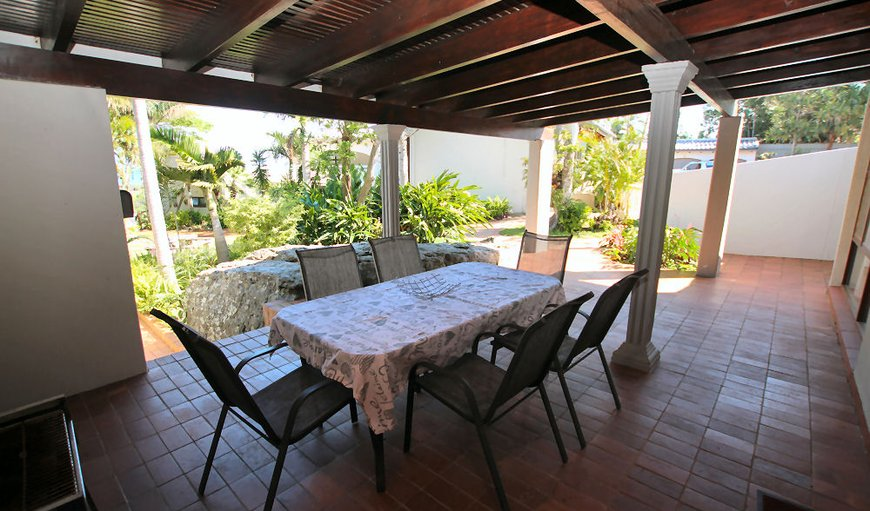 Spacious patio with beautiful views and outdoor furniture in Uvongo, KwaZulu-Natal , South Africa