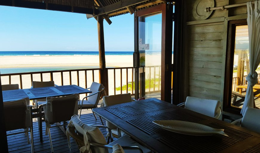 Dining area with a stunning view in Inhambane, Mozambique, Mozambique, Mozambique