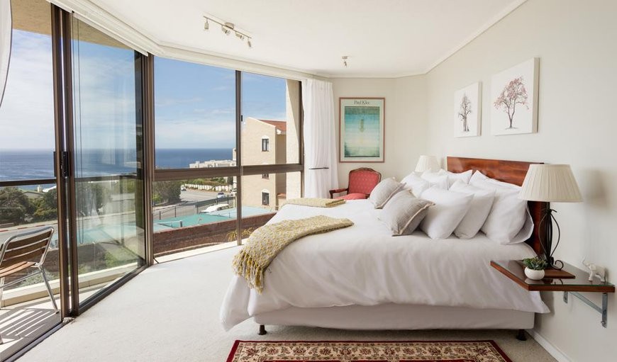 Beautifully decorated main bedroom with ocean views in Plettenberg Bay, Western Cape , South Africa